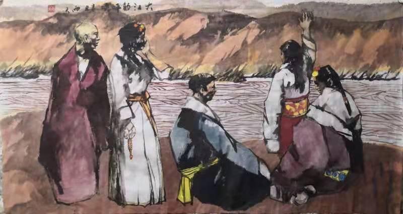国画人物作品九幅  (图9)